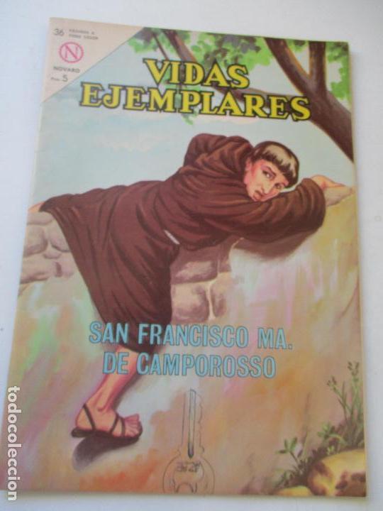 VIDAS EJEMPLARES Nº. 168 SAN FRANCISCO MA. DE CAMPOROSSO.-1964 (Tebeos y Comics - Novaro - Vidas ejemplares)