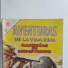Tebeos: AVENTURAS DE LA VIDA REAL N° 86 - CACERÍA DE MONSTRUOS - ORIGINAL EDITORIAL NOVARO. Lote 110768307