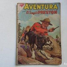 Tebeos: AVENTURA N° 134 - EL SARGENTO PRESTON - ORIGINAL EDITORIAL NOVARO. Lote 114506743
