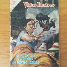 Tebeos: VIDAS ILUSTRES 37, EL SUEÑO DE LA MUERTE DE DAVID BRUCE. EDICIONES RECREATIVAS NOVARO 1959. Lote 115279559