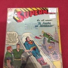 Tebeos: SUPERMAN NUMERO 109 NORMAL ESTADO REF.19. Lote 115378655