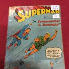 Tebeos: SUPERMAN NUMERO 125 BUEN ESTADO REF.19. Lote 115378899