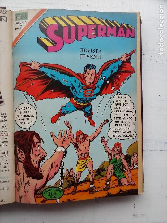 SUPERMAN NOVARO - 12 TEBEOS MUY BIEN CONSERVADOS (Tebeos y Comics - Novaro - Superman)