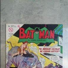 Tebeos: BATMAN N° 196 - EL HOMBRE SALVAJE DE CIUDAD GÓTICA - ORIGINAL EDITORIAL NOVARO. Lote 116198031