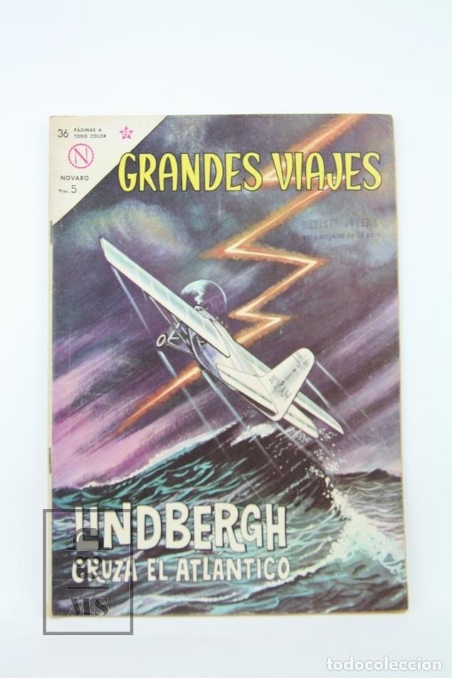 ANTIGUO CÓMIC - GRANDES VIAJES / LINDBERGH CRUZA EL ATLÁNTICO Nº 13 - EDITORIAL NOVARO, AÑO 1964 (Tebeos y Comics - Novaro - Grandes Viajes)