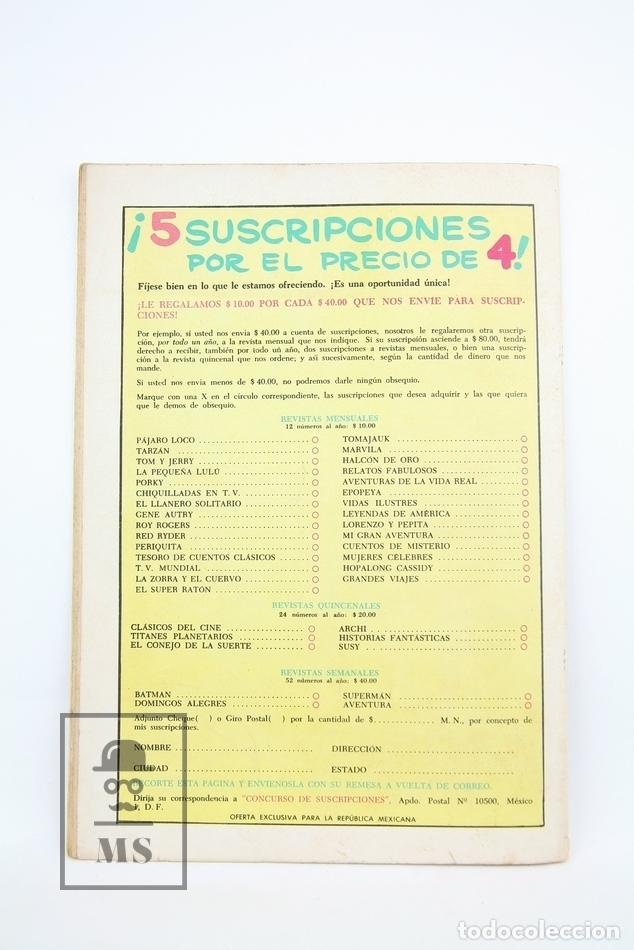 Tebeos: Antiguo Cómic - Grandes Viajes / Lindbergh Cruza El Atlántico Nº 13 - Editorial Novaro, Año 1964 - Foto 3 - 117811620