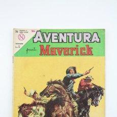 Tebeos: ANTIGUO CÓMIC - AVENTURA / MAVERICK Nº 318 - EDITORIAL NOVARO, AÑO 1964. Lote 117817235
