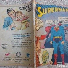 Tebeos: SUPERMAN Nº EXTRAORDINARIO,1 SEPT 1959,PROCEDENTE DE ENCUADERNACIO,LA NUEVA CARA DE SUPERMAN. Lote 118429419