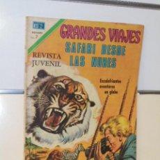 Tebeos: GRANDES VIAJES Nº 102 SAFARI DESDE LAS NUBES - NOVARO. Lote 118642907