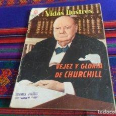 Tebeos: VIDAS ILUSTRES NºS 18 FEDERICO CHOPIN Y 113 VEJEZ Y GLORIA DE CHURCHILL. NOVARO 1957. DIFÍCILES.. Lote 118922827