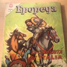 Tebeos: EPOPEYA- LA CONQUISTA DE ITALIA . Lote 132167821