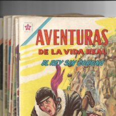 Tebeos: AVENTURAS DE LA VIDA REAL, LOTE DE 12. TEBEOS ORIGINALES. AÑOS 1.962 - 1.974. EDITORIAL NOVARO.. Lote 119464587