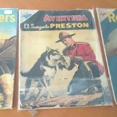 Tebeos: NOVARO,SARGENTO PRESTON, ROY ROGERS, LOTE DE TRES. Lote 119919518