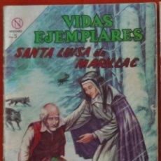 Tebeos: COMIC VIDAS EJEMPLARES SANTA LUISA DE MARILLAC.. Lote 120000395