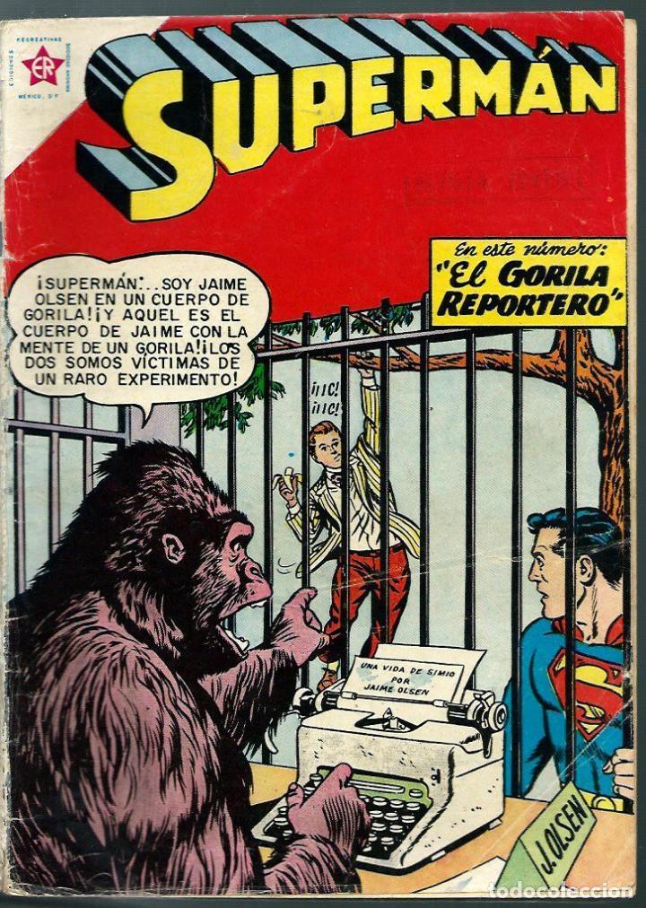 SUPERMAN Nº 161 - EL GORILA REPORTERO - ERSA ED. RECREATIVAS 1958 - NOVARO (Tebeos y Comics - Novaro - Superman)