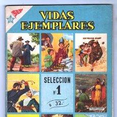Tebeos: NOVARO VIDAS EJEMPLARES SELECCION # 1 SAN NICOLAS DE BARI SANTA ISABEL DE HUNGRIA 96 PAG EXCELENTE. Lote 120370935