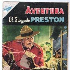 Tebeos: AVENTURA # 31 EL SARGENTO PRESTON NOVARO 1956 EL RASTRO DEL ORO EXCELENTE ESTADO. Lote 120730275
