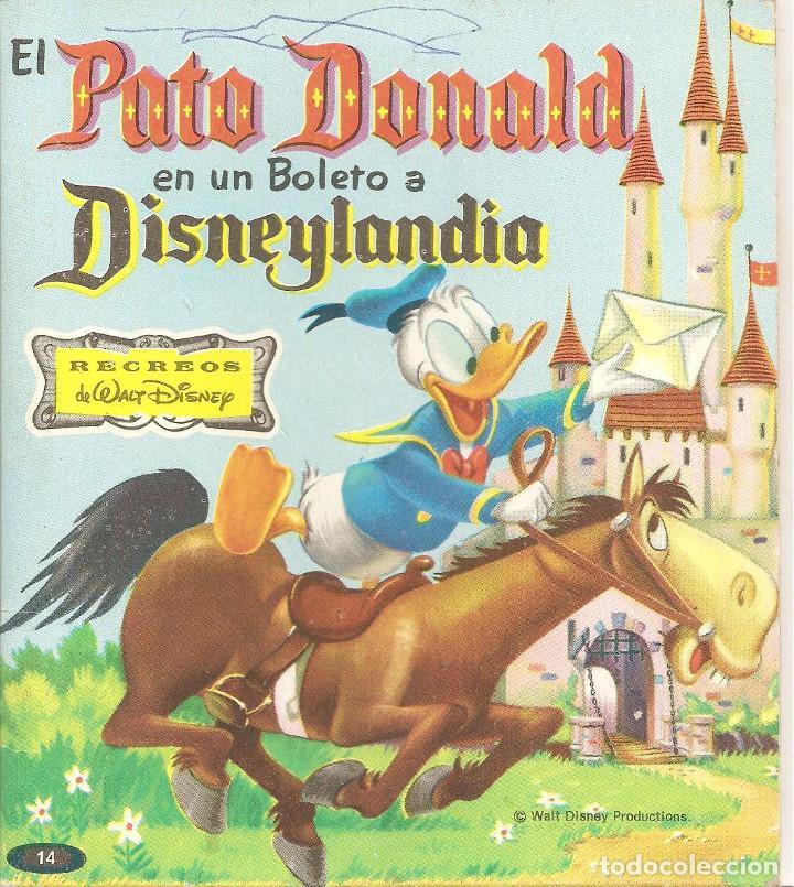 EL PATO DONALD EN UN BOLETO A DISNEYLANDIA. WALT DISNEY (Tebeos y Comics - Novaro - Otros)