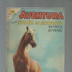 BDs: AVENTURA 527: HAZAÑAS DE UN CABALLO, 1968, NOVARO, BUEN ESTADO. Lote 121178187
