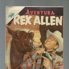 Tebeos: AVENTURA 26: REX ALLEN, 1955, NOVARO, MUY BUEN ESTADO. Lote 121180243