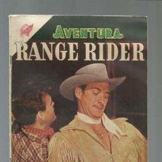 Tebeos: AVENTURA 32: RANGE RIDER, 1956, NOVARO, MUY BUEN ESTADO. Lote 121180451