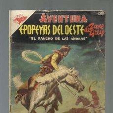 Tebeos: AVENTURA 5: EPOPEYAS DEL OESTE DE ZANE GREY, 1954, NOVARO, BUEN ESTADO. Lote 121180667