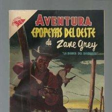 Tebeos: AVENTURA 11: EPOPEYAS DEL OESTE DE ZANE GREY, 1954, NOVARO, MUY BUEN ESTADO. Lote 121180775