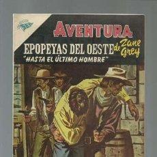 Tebeos: AVENTURA 27: EPOPEYAS DEL OESTE DE ZANE GREY, 1956, NOVARO, MUY BUEN ESTADO. Lote 121180899
