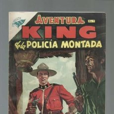 Tebeos: AVENTURA 7: KING DE LA POLICIA MONTADA, 1954, NOVARO, MUY BUEN ESTADO. Lote 121181003