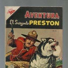 Tebeos: AVENTURA 14: EL SARGENTO PRESTON, 1955, NOVARO, MUY BUEN ESTADO. Lote 121183235