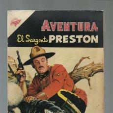 Tebeos: AVENTURA 37: EL SARGENTO PRESTON, 1956, NOVARO, MUY BUEN ESTADO. Lote 121183363