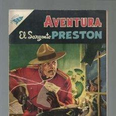 Tebeos: AVENTURA 31: EL SARGENTO PRESTON , 1956, NOVARO, MUY BUEN ESTADO. Lote 121183459