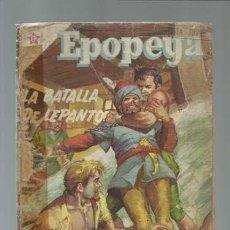 Tebeos: EPOPEYA 2: LA BATALLA DE LEPANTO, 1958, NOVARO, USADO. Lote 121213879