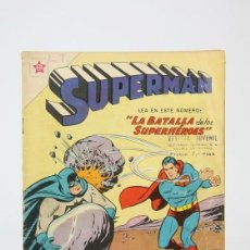 Tebeos: ANTIGUO CÓMIC - SUPERMÁN Nº 174 / LA BATALLA DE LOS SUPERHÉROES - EDITORIAL NOVARO, AÑO 1959. Lote 121243683