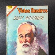 Tebeos: VIDAS ILUSTRES. WALT WHITMAN.. Lote 121475127