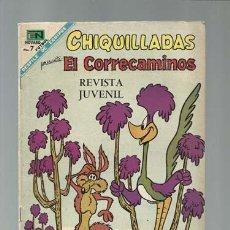 Tebeos: CHIQUILLADAS 241: EL CORRECAMINOS, 1968, NOVARO, MUY BUEN ESTADO. Lote 121577471
