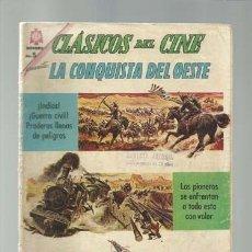 Tebeos: CÁSICOS DEL CINE 120: LA CONQUISTA DEL OESTE, 1964, NOVARO.. Lote 121578335