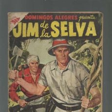 Tebeos: DOMINGOS ALEGRES 132: JIM DE LA SELVA, 1956, NOVARO. Lote 121720091