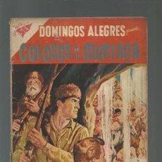 Tebeos: DOMINGOS ALEGRES 206: COLOSOS DE LA MONTAÑA, 1958, NOVARO USADO. Lote 121915015