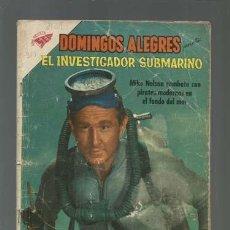 Tebeos: DOMINGOS ALEGRES 351: EL INVESTIGADOR SUBMARINO, 1960, NOVARO. Lote 121915487