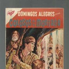 Tebeos: DOMINGOS ALEGRES 206: COLOSOS DE LA MONTAÑA, 1958, NOVARO MUY BUEN ESTADO. Lote 121916379