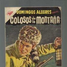 Tebeos: DOMINGOS ALEGRES 91: COLOSOS DE LA MONTAÑA, 1955, NOVARO. Lote 121917191