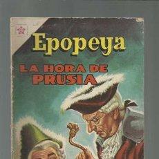 Tebeos: EPOPEYA 48: LA HORA DE PRUSIA, 1962, NOVARO. Lote 121919171