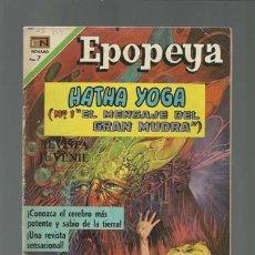 Tebeos: EPOPEYA 144: HATHA YOGA (1 EL MENSAJE DEL GRAN BUDA), 1970, NOVARO, MUY BUEN ESTADO. Lote 121939687