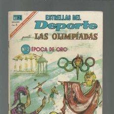 Tebeos: ESTRELLAS DEL DEPORTE 28: LAS OLIMPIADAS 2, ÉPOCA DE ORO, 1967, NOVARO, MUY BUEN ESTADO. Lote 121940159