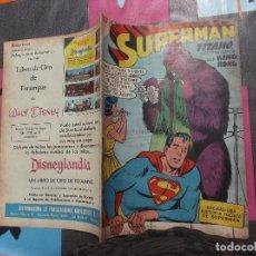 Tebeos: SUPERMAN Nº 219,1959,EDICIONES RECREATIVAS (E.R) NOVARO,TEBEO PROCEDENTE DE ENCUADERNACION VER FOTO. Lote 121961775