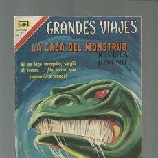 Tebeos: GRANDES VIAJES 93: LA CAZA DEL MONSTRUO, 1970, NOVARO, MUY BUEN ESTADO. Lote 122349043