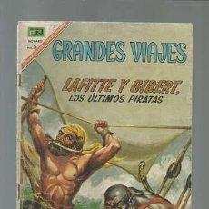 Tebeos: GRANDES VIAJES 53: LAFITE Y GIBERT, LOS ÚLTIMOS PIRATAS, 1967, NOVARO. Lote 122350843