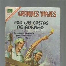 Tebeos: GRANDES VIAJES 54: POR LAS COSTAS DE BORNEO, 1967, NOVARO.. Lote 122351183