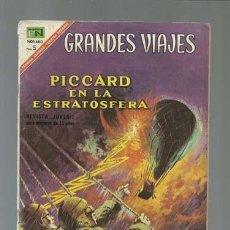 Tebeos: GRANDES VIAJES 55: PICARD EN LA ESTRATOSFERA, 1967, NOVARO. Lote 122351735